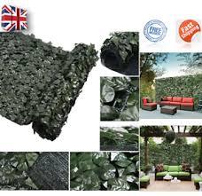 Uk Artificial Hedge Roll Screening Ivy Leaf Garden Fence Privacy Screen 1m X 3m Ebay