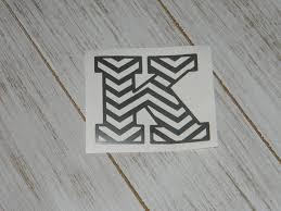 Amazon Com Chevron Letter K Vinyl Decal Sticker Pick Color Pick Size Handmade