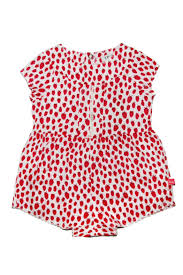 ikks strawberry print romper from new