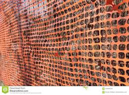 Construction Site With Safety Orange Fence Stock Image Image Of Industry Land 105040259
