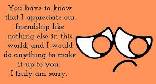sorry friend quotes com