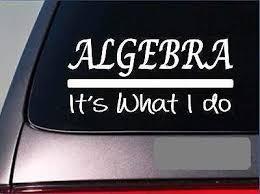 Amazon Com Brandvinyl Algebra Sticker Decal School Teacher College Math Geometry Calculus Add Home Kitchen