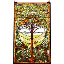 art nouveau tree of life stained glass