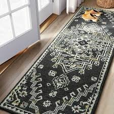 threshold hooked medallion runner rug 2
