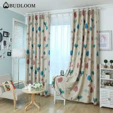 Budloom Cartoon Tree Blackout Curtains For Bedroom Curtains For Kids Room Boys Girls Room Window Drapes Childlike Shade Panel Curtains Aliexpress