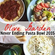 olive garden never ending pasta bowl is