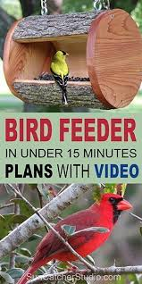 diy bird feeder plans homemade log