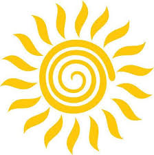 Large 5 5 Or 8 5 Spiral Sun Decal Vinyl Sunshine Sticker For Car Wall Window Fabric Paint Designs Car Stickers Decal Ideas Diy