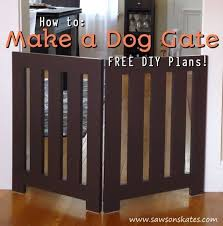 How To Make A Diy Dog Gate Free Plans Saws On Skates Dog Gate Diy Dog Fence Diy Dog Gate