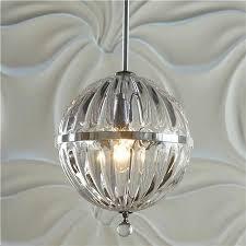 fluted glass globe pendant small