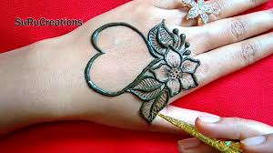 easy simple heart shape mehndi design