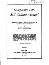 Campbell's 1907 Soil Culture Manual, a Complete Guide to Scientific  Agriculture as Adapted to the Semi-Arid Regions - Kindle edition by  Campbell, Hardy Webster. Literature & Fiction Kindle eBooks @ Amazon.com.