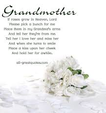 quotes about grandmother in heaven quotes