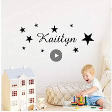 Amazon Com Ayzr Personalized Stars Name Custom Stickers House Decoration Kids Room Decor For Children S Room Wall Decal Wallstickers Mural 80x31cm Home Kitchen