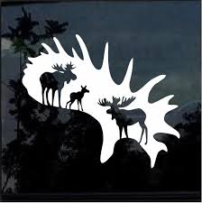 Moose Hunting Window Decal Sticker Custom Sticker Shop