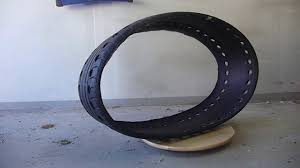 rubber tracks made form old car tyre