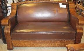 antique hide a bed sofa empire mission