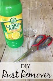 diy rust remover frugally blonde