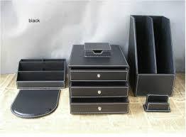 6pcs set pu leather desk accessories