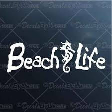 Shop Now For Beach Life Seahorse Car Truck Decals