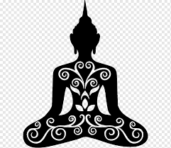 Buddhism Buddhist Meditation Wall Decal Zen Buddhism Sticker Om Silhouette Png Pngwing