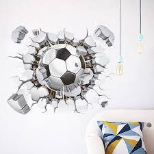 Jpgif 3d Soccer Ball Football Wall Sticker Decal Kids Bedroom Home Room Decor Sport Walmart Com Walmart Com