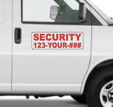 Custom Security Magnetic Signs For Car Truck Suv 6 X18 Phone Or Web Site Ebay