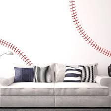 Giant Full Wall Baseball Stitch Vinyl Decals Kids Room Nursery Garden Diy Wall Stickers Home Decor Wall Stickers Aliexpress