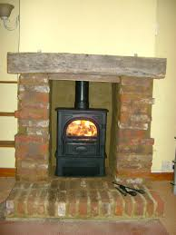 rustic brick fireplace