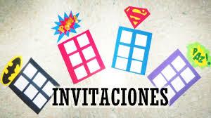 Invitacion Para Fiesta De Superheroes Moldes Combo 1 Youtube