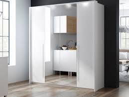 brema white bi fold 4 door mirror