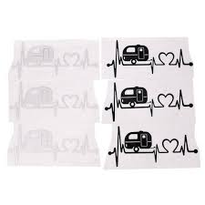 Auto Parts And Vehicles Car Sticker Camper Travel Trailer Hiker Heartbeat Decal Sticker Hiking Art Hoth Car Truck Graphics Decals