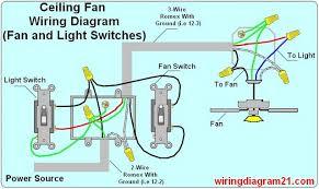 ceiling fan light switch wiring diagram