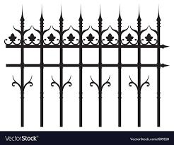 Vintage Iron Fence Royalty Free Vector Image Vectorstock