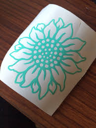 Vinyl Decal Sunflower Byashleyberrios Cricut Projects Vinyl Mason Jar Diy Cup Decal