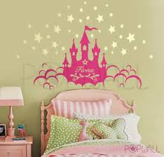 Kids Wall Decal Wall Sticker Princess Castle With Custom Name Wall Decals Ebay