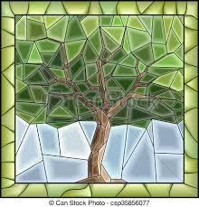 vector green ilration of tree