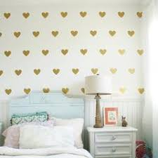 Baby Girl Room Decorative Stickers Gold Heart Wall Sticker For Kids Ro The Lounge Depot