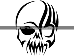 Tribal Skull Skull Car Stickers Skeleton Vinyl Window And Door Decals Cars Trucks Motorcycles