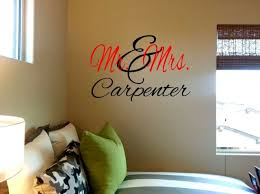Mr Mrs Vinyl Wall Decal Personalized With Last Name For Sale Online