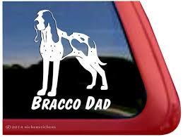 Bracco Dad Italian Pointer Dog Decals Stickers Nickerstickers