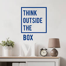 Creative Think Outside The Box Inspirational Quotes Wall Sticker Walling Shop
