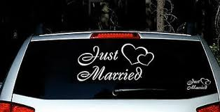 Just Married Vinyl Car Decal Sticker Custom Personalized Wedding Decor Sign Ebay