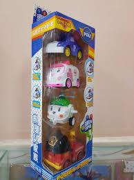 Hộp quà tặng đồ chơi 4 xe Poli dễ thương cho bé trai