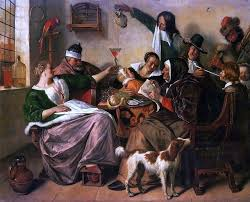 Jan Steen As The Old Sing So Pipe The Young 20 X25 Wall Decal Traditional Wall Decals By Art Megamart