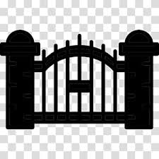 Fence Gate Electric Gates Inferriata Wrought Iron Door Silhouette Architecture Transparent Background Png Clipart Hiclipart