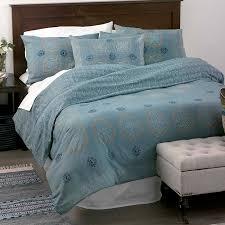 block print mandala bedding slate