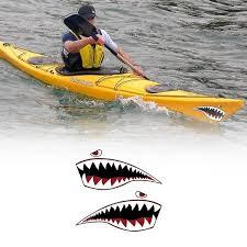 Waterproof Boat Vinyl Decal Teeth Sticker Shark Mouth Kayak Outdoor Stickers Wish