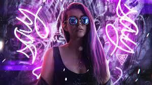 صور بنات الفيس بوك الجديدة Pavel Blonde Girl Neon Light صور بنات كيوت