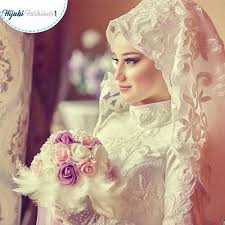 beautiful hijab bridal style for